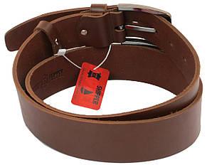 Мужской кожаный ремень под джинсы Skipper 1183-45 коричневый ДхШ: 135х4,5 см., фото 2