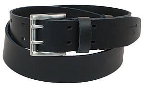 Мужской кожаный ремень под джинсы Skipper 1194-45 темно-синий ДхШ: 130х4,5 см., фото 2
