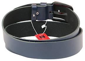 Мужской кожаный ремень под джинсы Skipper 1170-45 синий ДхШ: 132х4,5 см., фото 2