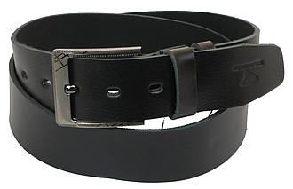 Мужской кожаный ремень под джинсы Skipper 1159-45 черный ДхШ: 131х4,5 см., фото 2