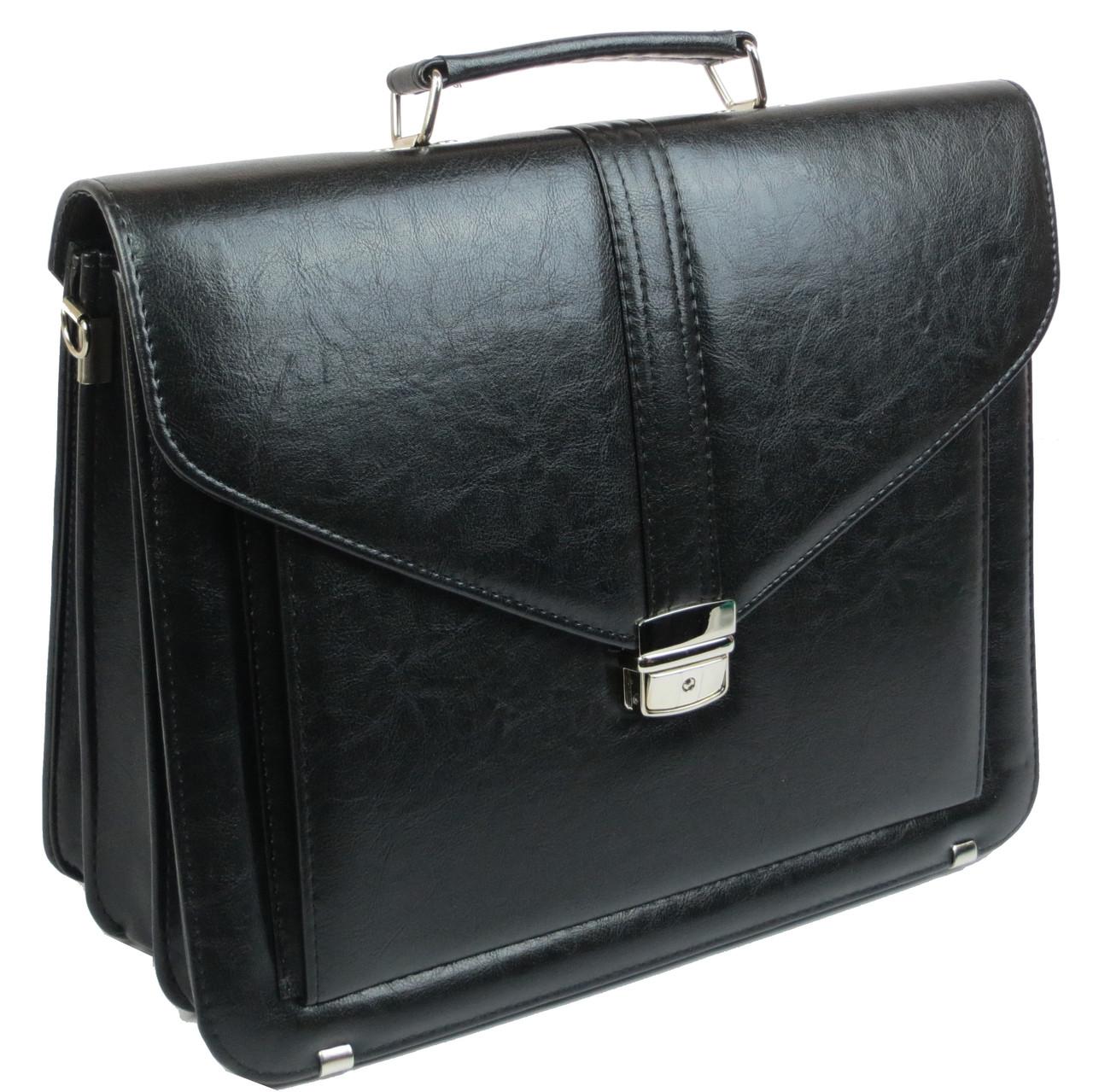 Мужской портфель из эко кожи Arwena Польша TM0004 черный