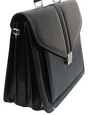 Мужской портфель из эко кожи Arwena Польша TM0004 черный, фото 2