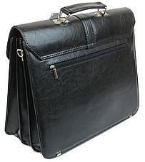Мужской портфель из эко кожи Arwena Польша TM0004 черный, фото 3