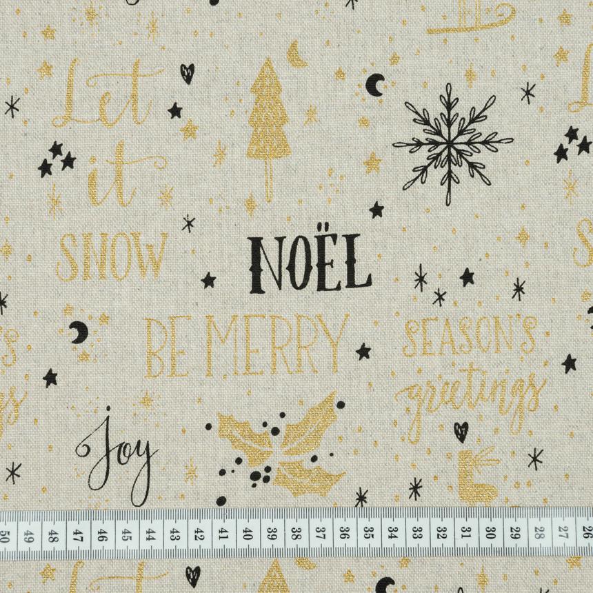 Декоративная новогодняя ткань Рождество