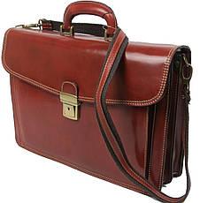 Мужской кожаный деловой портфель Tomskor, фото 2