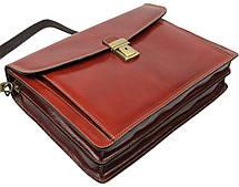 Мужской кожаный деловой портфель Tomskor, фото 3