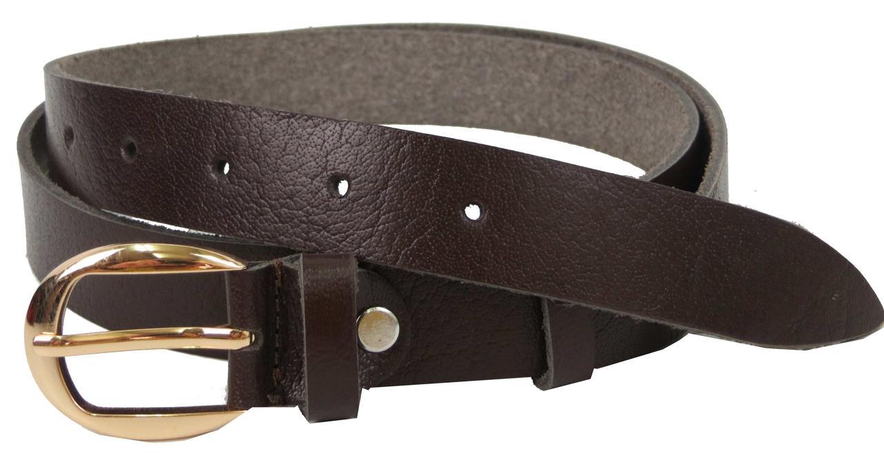 Женский кожаный ремень Skipper коричневый 2,5 см 1339-25