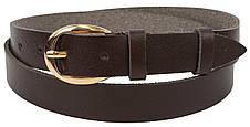 Женский кожаный ремень Skipper коричневый 2,5 см 1339-25, фото 2
