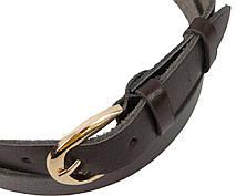 Женский кожаный ремень Skipper коричневый 2,5 см 1339-25, фото 3