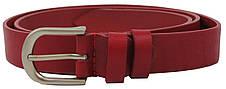 Кожаный женский ремень Skipper, Украина, красный 3 см, фото 2
