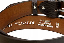 Ремень кожаный для джинс 4U Cavaldi PCS03BSS, 3,8 см, фото 3