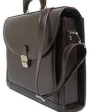Деловой портфель из эко кожи JPB TE-33 коричневый, фото 3