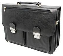 Портфель мужской из эко кожи Salvare N01A1 черный, фото 3