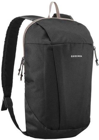 Молодежный, городской рюкзак Quechua arpenaz 10 л. 2487052 черный, фото 2
