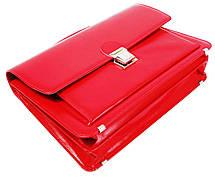 Деловой женский портфель из эко кожи AMO SST09 красный, фото 2