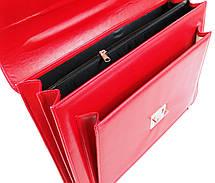 Деловой женский портфель из эко кожи AMO SST09 красный, фото 3