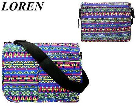 Сумка почтальонка Loren TN-3029 2327 разноцветная, фото 2