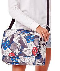 Молодежная сумка почтальонка с клапаном Loren TN-3029 2133 разноцветная, фото 2