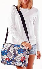 Молодежная сумка почтальонка с клапаном Loren TN-3029 2133 разноцветная, фото 3
