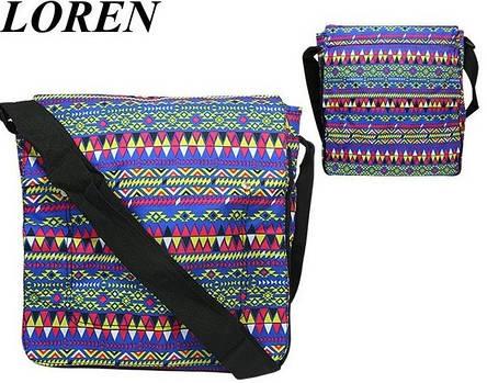 Сумка почтальонка Loren TN-1029 2327 разноцветная, фото 2