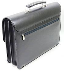 Деловой портфель из кожзама AMO Польша sst08 серый, фото 2