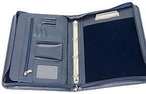 Папка для документов из кожзаменителя AMO SSBW01 синяя, фото 2