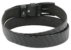 Мужской кожаный ремень под брюки Skipper 1259-35 черный 3,5 см, фото 2