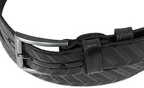 Мужской кожаный ремень под брюки Skipper 1259-35 черный 3,5 см, фото 3