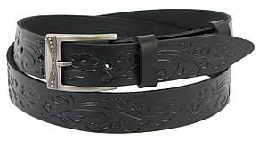 Женский кожаный ремень Skipper 1270-35 черный 3,5 см, фото 2