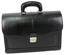 Портфель, саквояж мужской из эко кожи JPB черный, фото 3