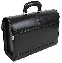 Портфель, саквояж мужской из эко кожи JPB черный, фото 2