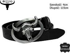 Мужской кожаный ремень с бляхой Буйвол Cavaldi Buffalo, фото 3