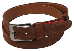 Ремень замшевый под брюки Skipper 1277-35 коричневый 3,5 см, фото 2