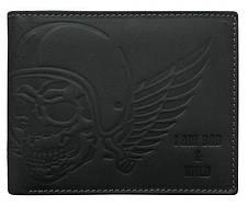 Горизонтальное мужской портмоне с черепом Always Wild черное, фото 2
