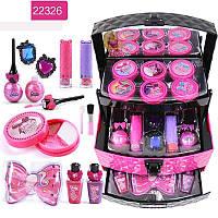 Игровой набор детская косметика - шкатулка косметичка, маникюрный набор, декоративная косметика Барби Barbie