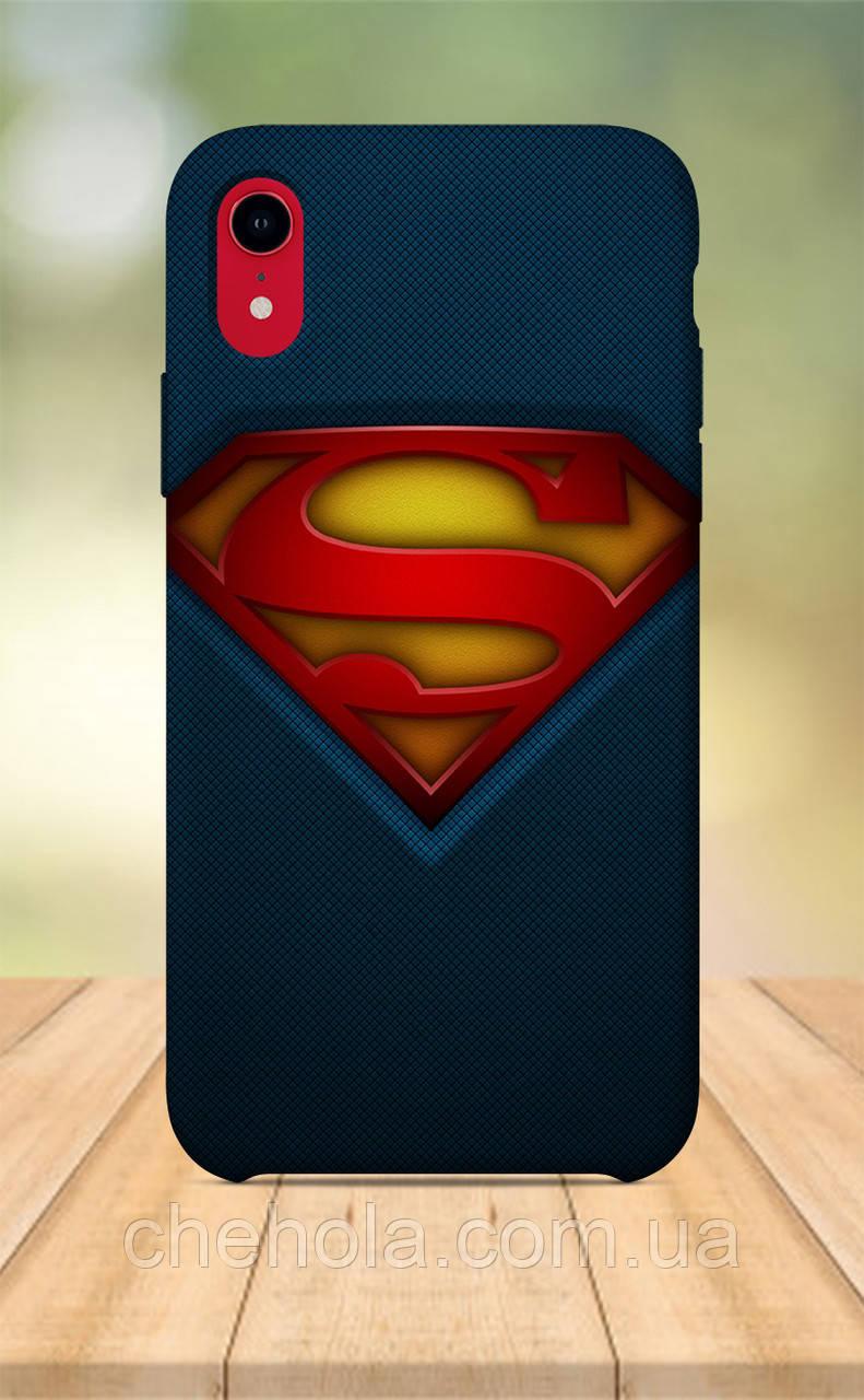 Чехол для apple iphone xr с принтом Marvel DC Комиксы супермен