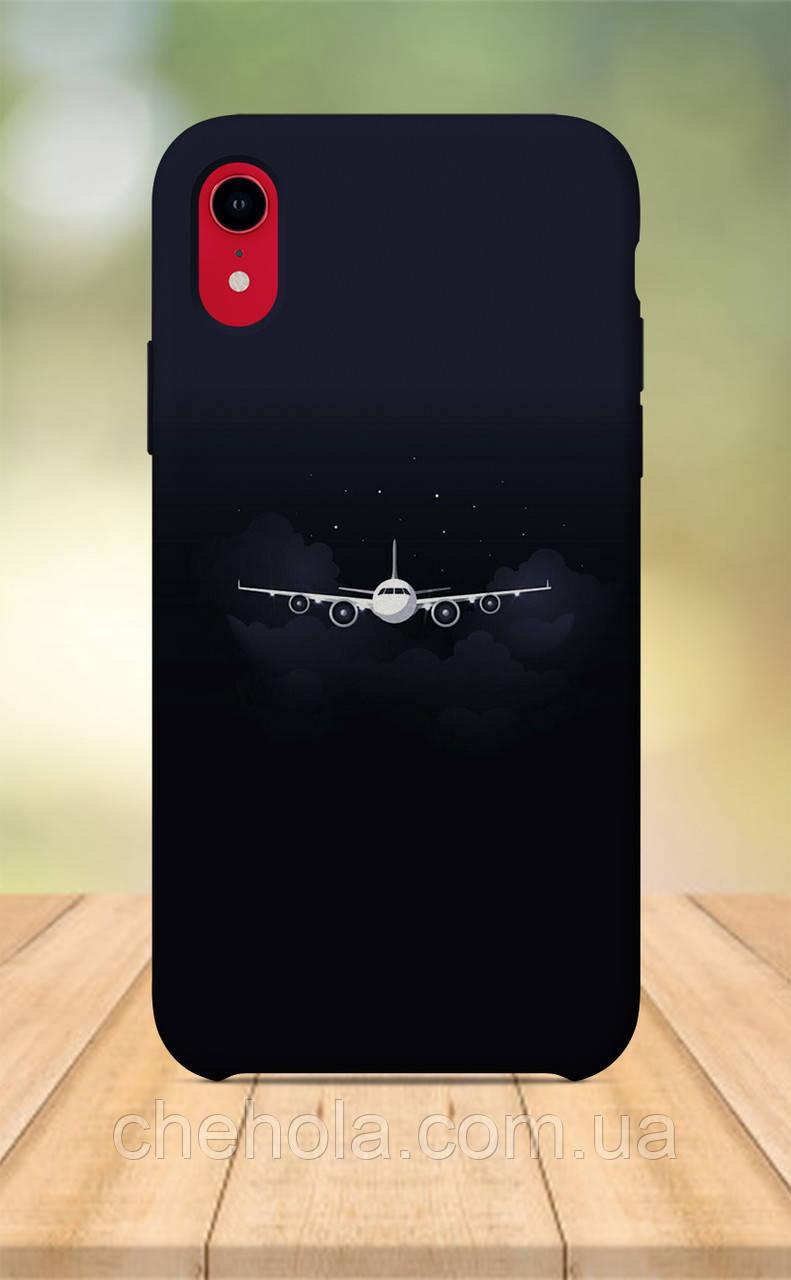 Чохол для apple iphone xr з принтом чоловічий літак винищувач авіа