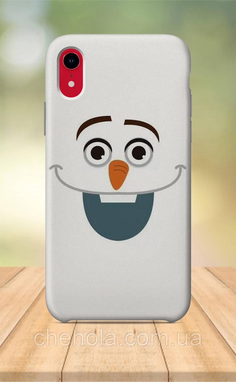 Чехол для apple iphone xr с принтом Мультфильмы Снеговик