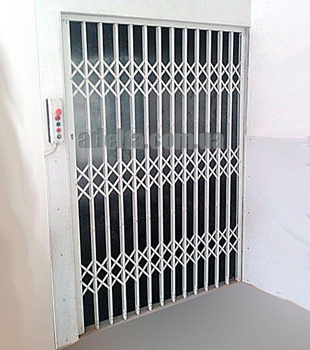 Раздвижная решетка для лифта Шир.1600*Выс2100мм