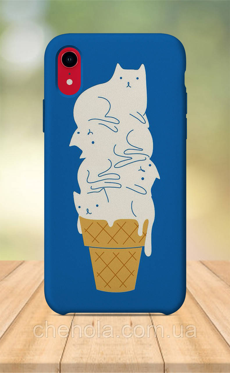 Чохол для apple iphone xr з принтом Милі Для Дівчаток Кот Морозиво літо