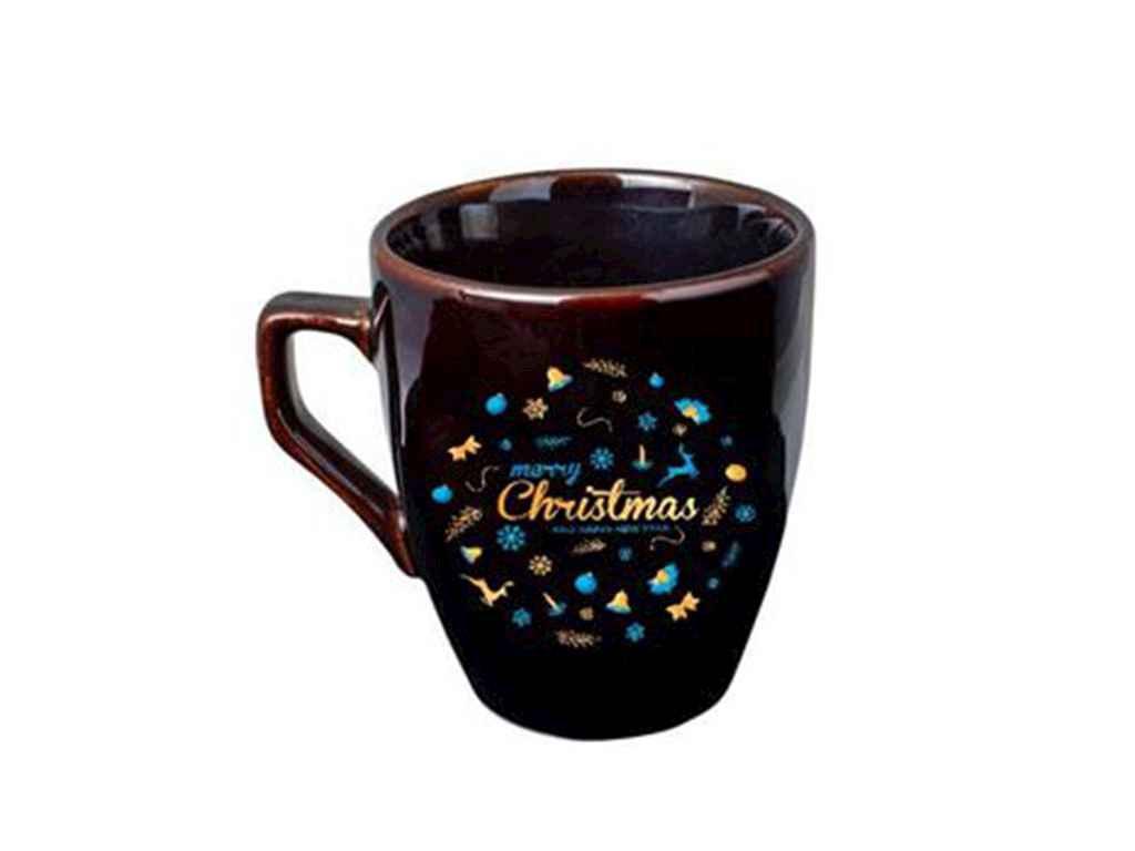Чашка 320мл Європа чорна гл. Merry Christmas 235015000 (6шт. в уп.) ТМПОЛИ
