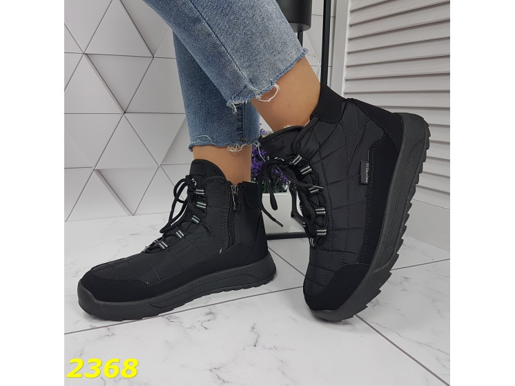 Дутики черевики зимові спортивні термоботинки на шнурівці 37 р. (2368)