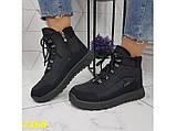 Дутики черевики зимові спортивні термоботинки на шнурівці 37 р. (2368), фото 3