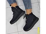 Дутики черевики зимові спортивні термоботинки на шнурівці 37 р. (2368), фото 4