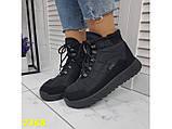 Дутики черевики зимові спортивні термоботинки на шнурівці 37 р. (2368), фото 8