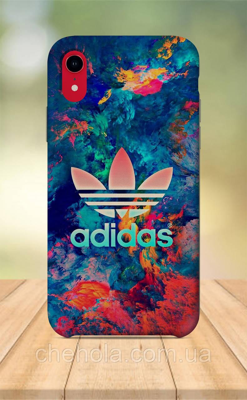 Чохол для apple iphone xr з принтом в стилі Adidas Адідас Смужки