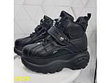 Кроссовки ботинки на высокой платформе зимние черные 38 р. (2375), фото 4