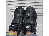 Кроссовки ботинки на высокой платформе зимние черные 38 р. (2375), фото 6
