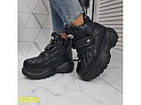 Кроссовки ботинки на высокой платформе зимние черные 38 р. (2375), фото 7