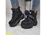 Кроссовки ботинки на высокой платформе зимние черные 38 р. (2375), фото 8